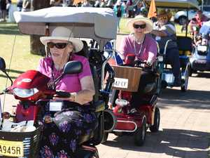 PHOTO GALLERY: Scooter and wheelchair convoy in Hervey Bay