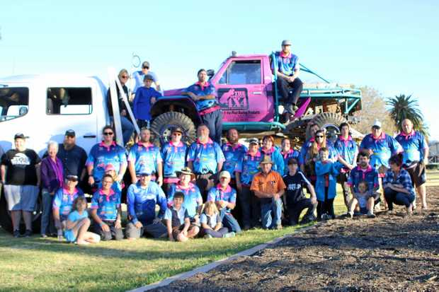 About 100 families were involved in the second Driving the Blues into the Dirt charity event at The Springs 4x4 Adventure Park this year to raise funds for beyond blue.