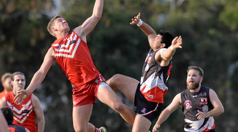 Yeppoon's Jamie Garner flies high in Saturday's grand final.