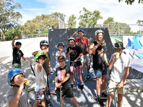 Young skaters tearing it up at Bray Park on Saturday September 10, 2017.