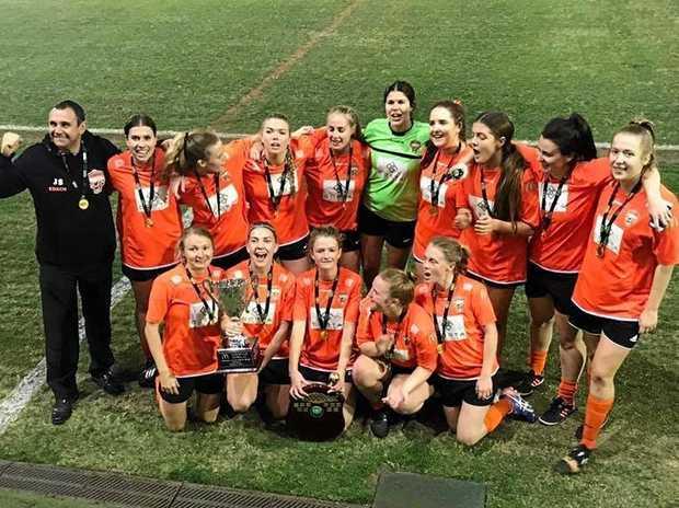 WINNERS: Premier Women Buderim Orange grand final winners 2017.