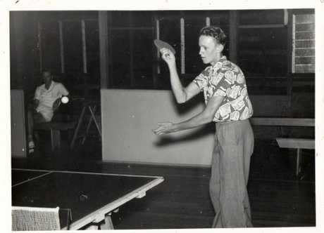 A young Bryan Hodgkinson taking part in a table tennis tournament, regular activity with he did with his sister Doris Hillier.  PHOTO: Submitted
