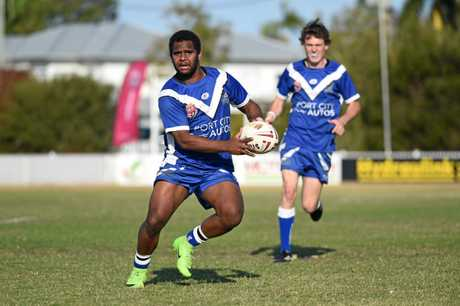 ON THE BALL: Wallaroos fullback Joey Alberts in action during the Bundaberg Rugby League grand final at Salter Oval, Bundaberg.