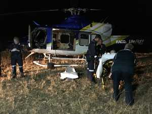 Man injured in farming accident