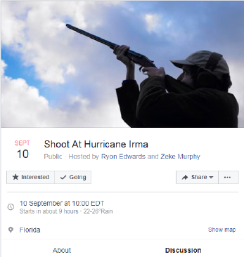 """Lets show Irma that we shoot first"" Ryan Edwards wrote on the event."