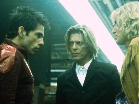 Ben Stiller, David Bowie and Owen Wilson in hit 2001 comedy Zoolander.