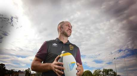 Devils coach Darren Burns in conjunction with the Brisbane Broncos has launched a domestic violence campaign. Photo Renee Albrecht/Gympie Times