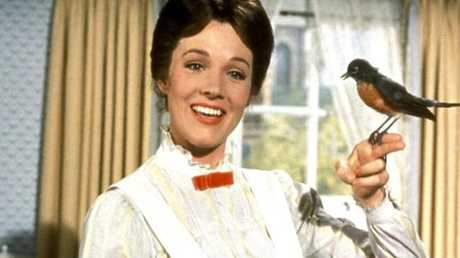 Julie Andrews won an Oscar for her portrayal of Mary Poppins.
