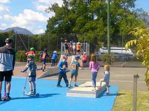 Kids roll into Tyalgum's new skate park