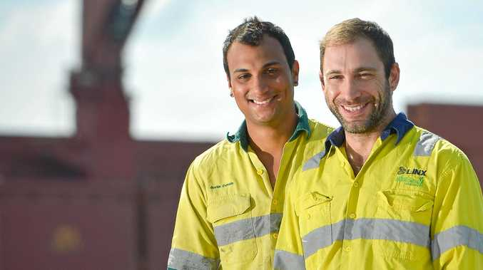 ACCEPTING: Brendan Kent (right) and partner Justin Domain say most people in Gladstone are happy to sit down and have a beer with anyone, gay or straight.