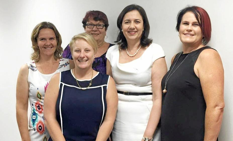CALL FOR ACTION: The Coalfields Community Group sent representatives met with Premier Annastacia Palaszczuk in Brisbane late 2015. Photo Contributed