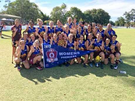 The victorious Glenmore Bulls A-grade women.