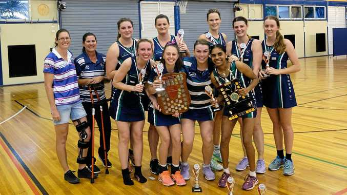 GREAT REWARD: Brothers Crimson have won a seventh consecutive A-grade netball title with victory over Bluebirds Hawks.