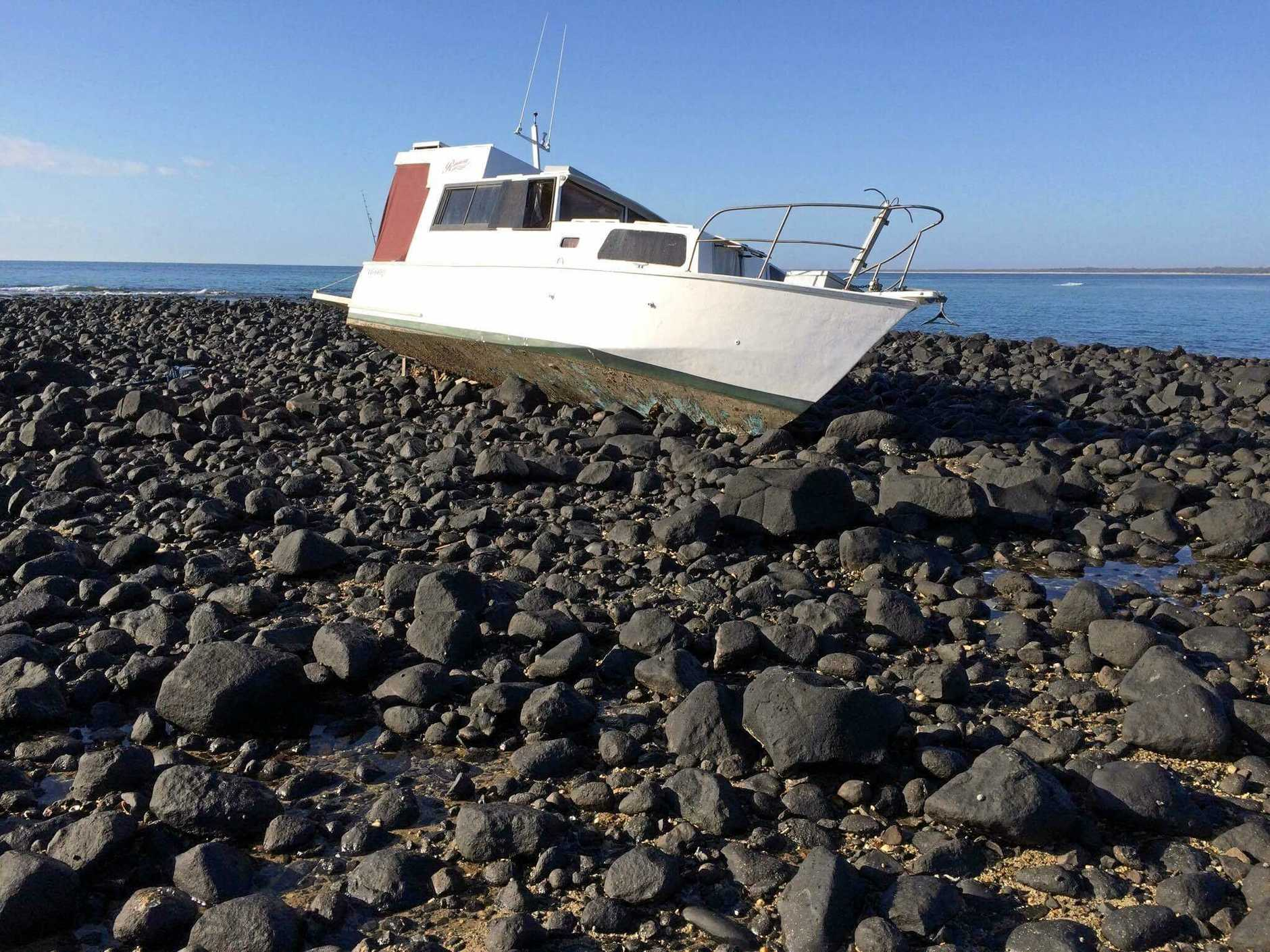 SOS: A fishing boat ran aground at Dr May's Island, Elliott Heads at the weekend.