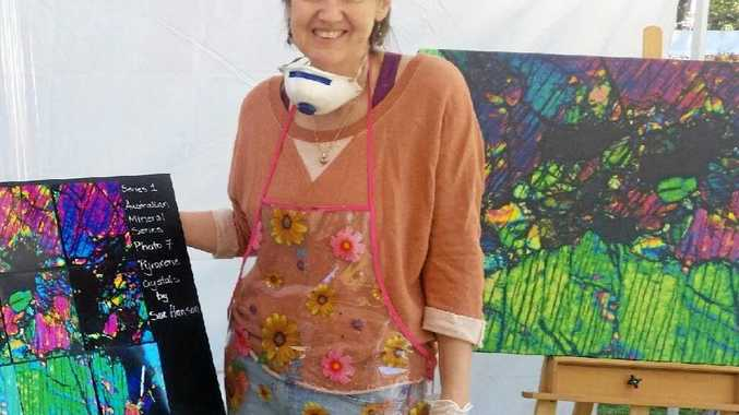 LOVING ART: Di Hanson, showcasing her work at this year's Hampton Festival, creates pieces based on her sister's photography.