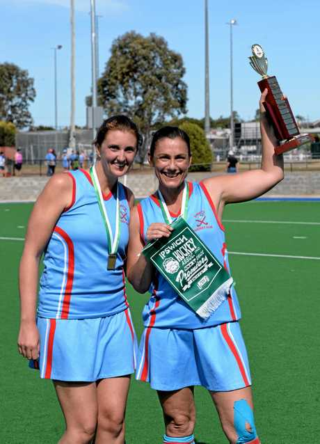 Premiership winning Swifts Reserve Grade co-captains Brooke Norton (left) and Cheryl Goodwin.