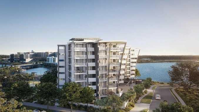 Cube Developments' new $37 million lakeside development at Birtinya.
