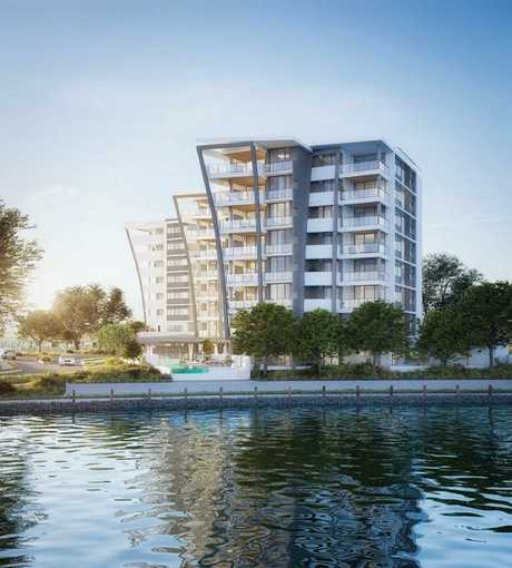 Cube Developments' new $37 million lakeside development at Birtinya.