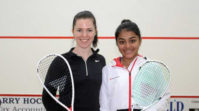 North Coast Women's  Open winner Tamika Saxby (left) and runner-up Sanayna Kurruville.