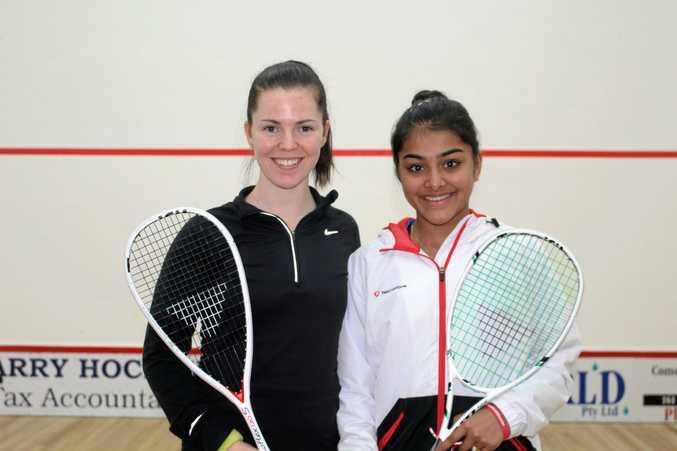 North Coast Women's  Open winner Tamika Saxby (left) and runner-up Sanayna Kurruville.