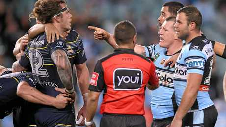 Paul Gallen disputes call made by referee Ashley Klein