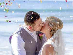 Noosa wedding's rose-petal shower