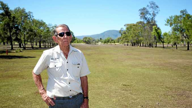 North Rockhampton Golf Club's Kevin Young is hopeful rain willl grace Rockhampton soon to refresh their course.