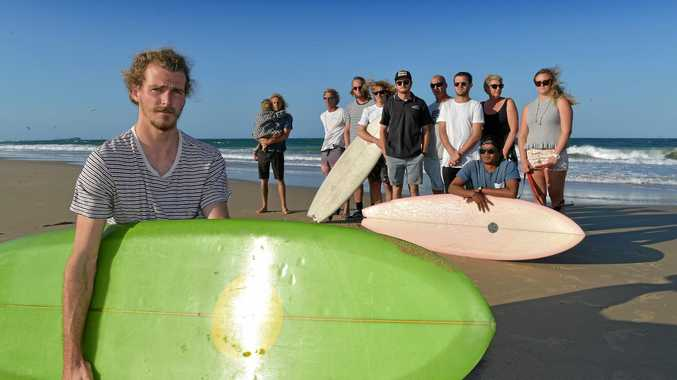 Mitch Surman and his surfing friends are concerned the dredging program will have a negative impact on local surfing spots.