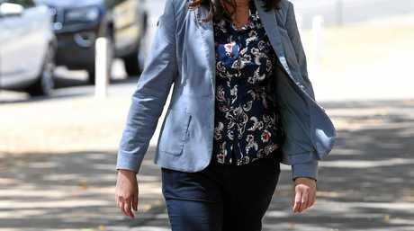 The Queensland Premier Annastacia Palaszczuk arrives at Maryborough State High School.