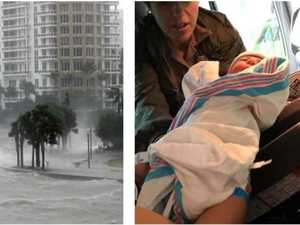 Woman delivers baby alone in Hurricane Irma