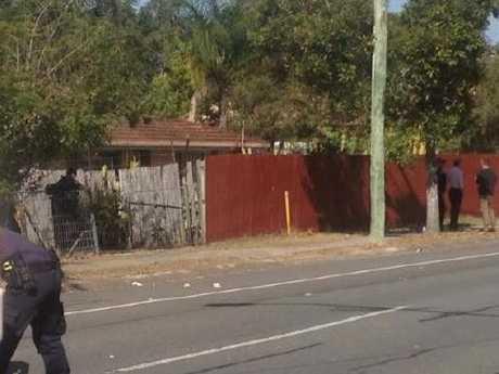 The scene of a shooting at Woodridge