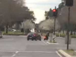 WATCH: L-plater arrested after driving into motorbike rider