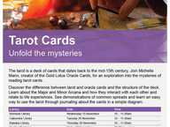 Tarot Cards unfold the mysteries