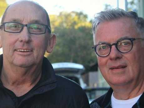 """They loved me, despite all my flaws,"" Sarah says of her foster dads, Dennis Cash (left) and John Guthrie. Picture: ABCSource:ABC"