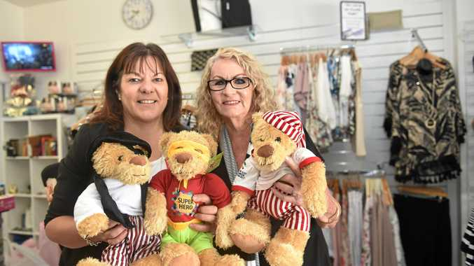 GIRLS NIGHT: Michelle Abil and Margaret McBride will auction off bears at this year's Girls Night In to raise funds for The Kids Cancer Project.