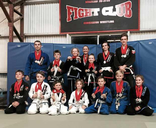STRONG SHOWING: Jiu-Jitsu Fightclub and Moranbah Vice Jiu-Jitsu club sent a team of 20 competitors to the Queensland championships in Rockhampton.
