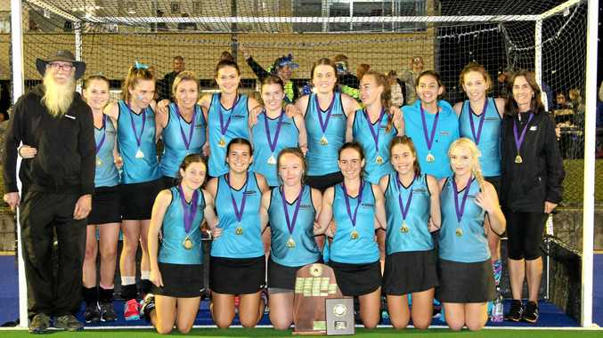 Division 1 Premiers Casuarina celebrate after defeating Murwillumbah 7-3 in the grand final