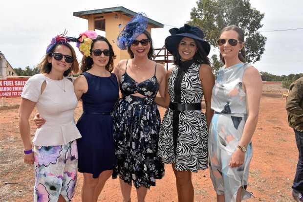 RACE FASHION: Anna Golkowski, Aoife Sexton, Camilla Roberts, Preeti Khera and Catherine Perrett.