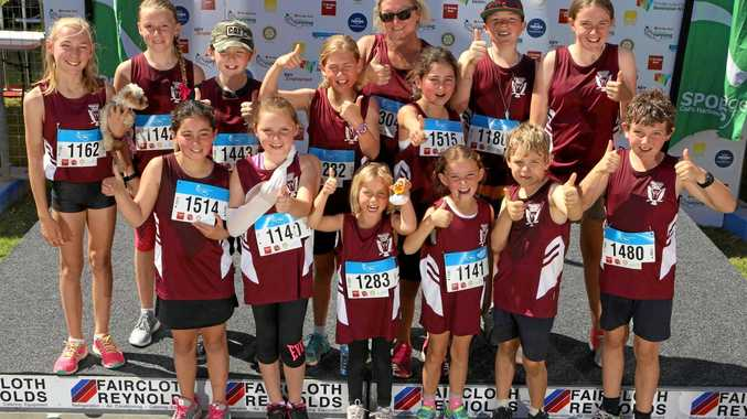 WINNERS: Coramba Public School was the Extra Small Schools winner of the Doctor on Duty Schools Challenge as part of this year's Bendigo Bank Coffs Harbour Running Festival.