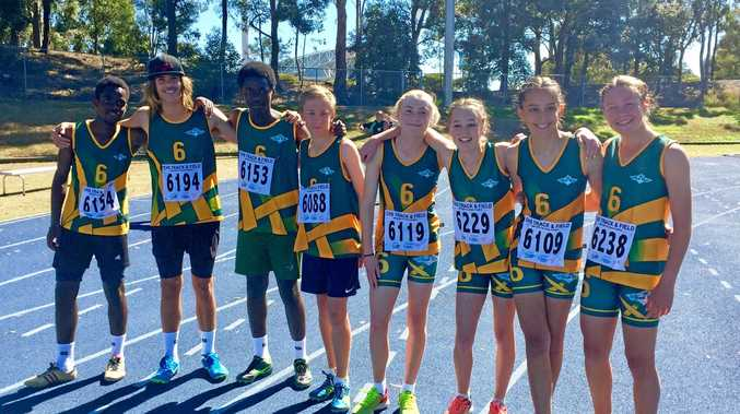 Jetty High's state champion athletes Ama Mite, Jack Sheehan, Christian Mirindi, Zaviar Herdes, Hayley Kitching, Sophie Walsh, Alyssa Jenkins and Jorja Welch.