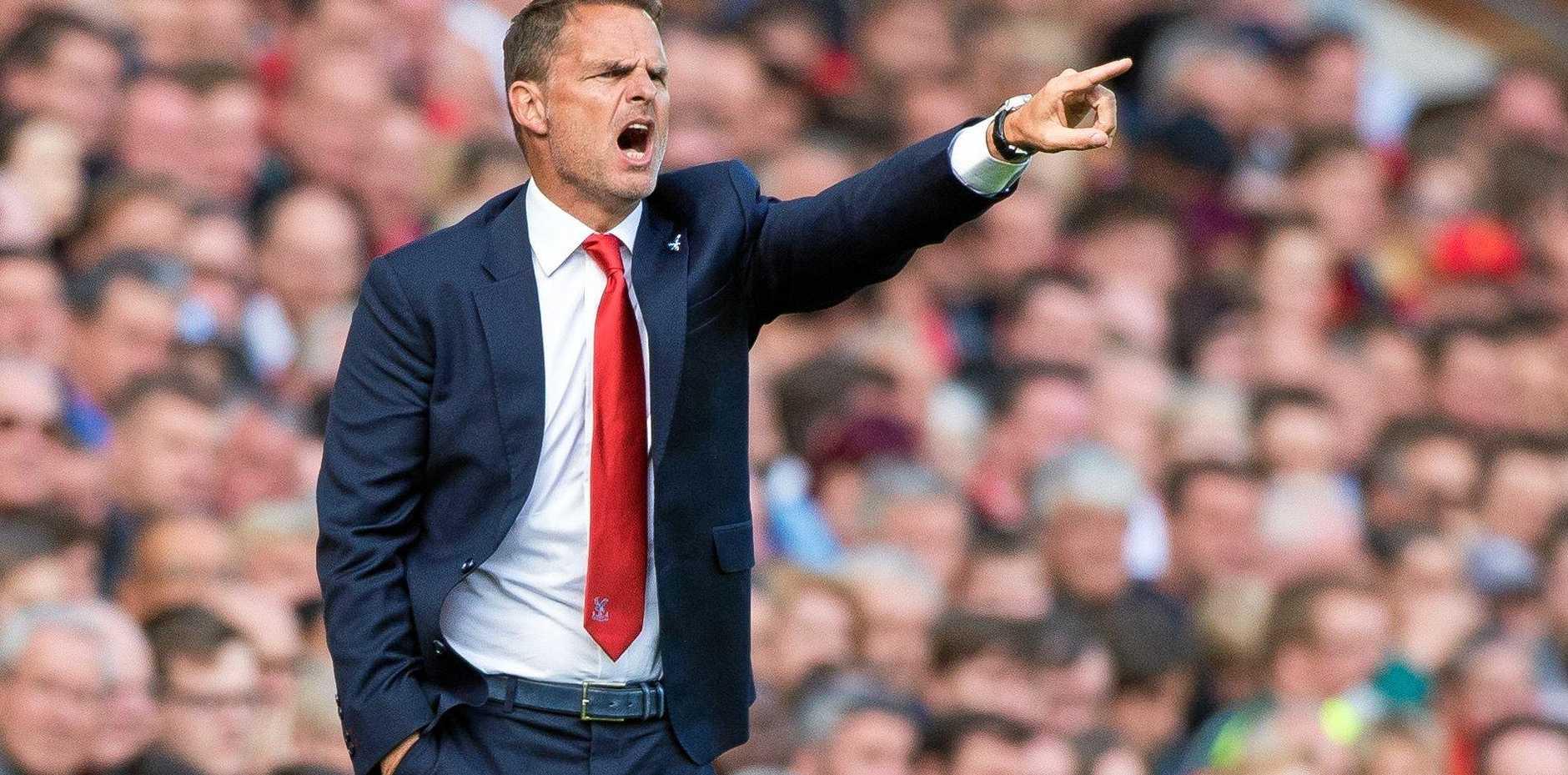 Former Crystal Palace manager Frank de Boer.