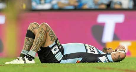 Andrew Fifita of the Sharks after the elimination final against the Cowboys at Allianz Stadium in Sydney.
