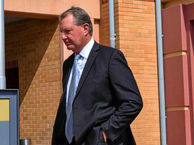 Dr Glenn Allan Taylor leaves Lismore court.
