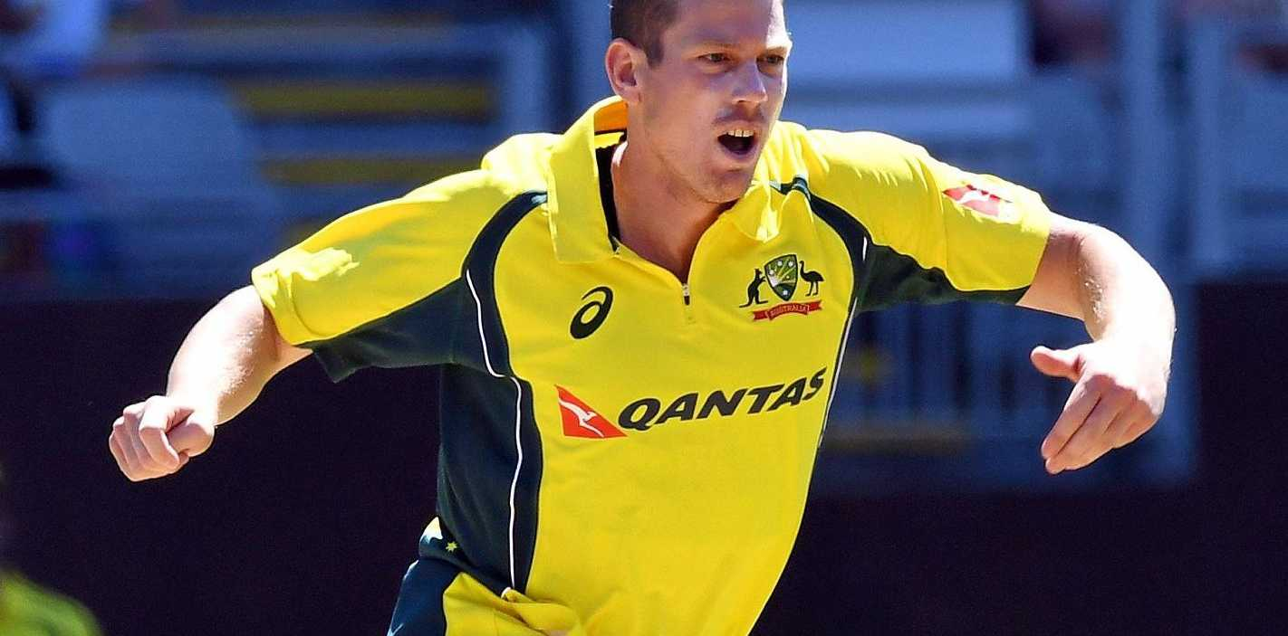 James Faulkner of Australia bowling against New Zealand in the Chappell Hadlee Series in January.