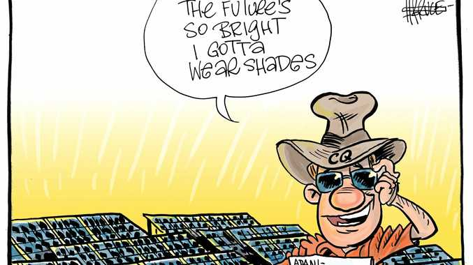 Harry Bruce cartoon adani solar farm