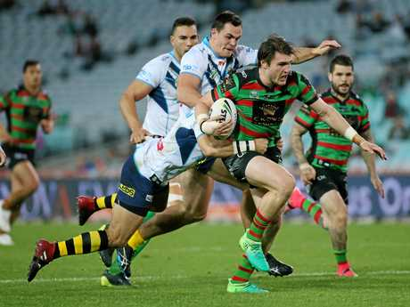 Angus Crichton is among the young talent emerging at Souths that has the coach looking forward with optimism.