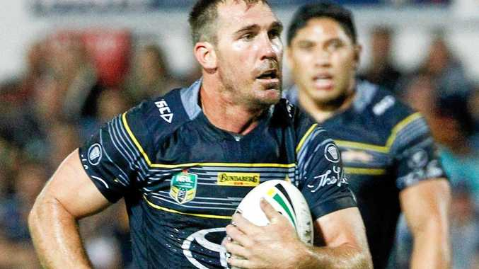 Scott Bolton of the Cowboys during the Round 26 NRL match between the North Queensland Cowboys and the Brisbane Broncos at 1300SMILES Stadium in Townsville, Thursday, August 31, 2017. (AAP Image/Michael Chambers) NO ARCHIVING, EDITORIAL USE ONLY
