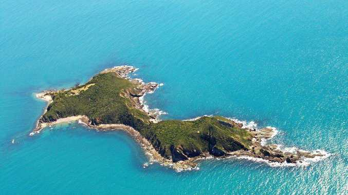 PARADISE: Aerial view of the recently sold Wedge Island, dubbed