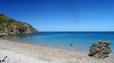 One of Wedge Island's sandy beaches.