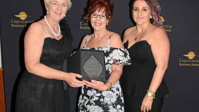 Capricornia Business Awards 2016 Best Business of the Year winners Headstart Salon Hair Beauty Nails with Mayor Margaret Strelow.